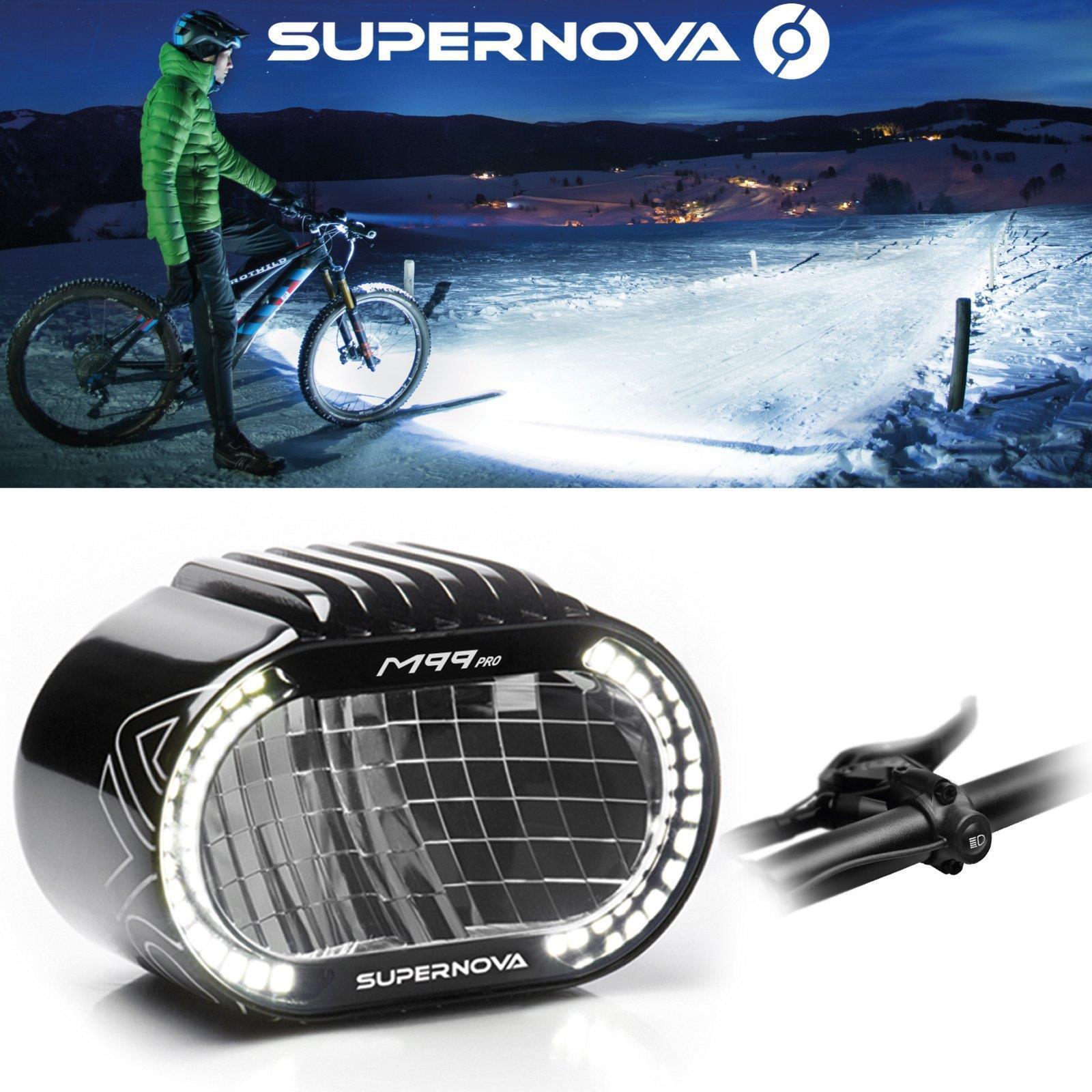 Supernova M99 PRO  E-Bike Scheinwerfer 1600 Lumen LED Fernlicht Tagfahrlicht  gorgeous