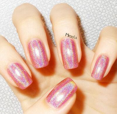 6ml Born Pretty 2# Holographic Glitter Nail Polish Varnish Hologram Pink
