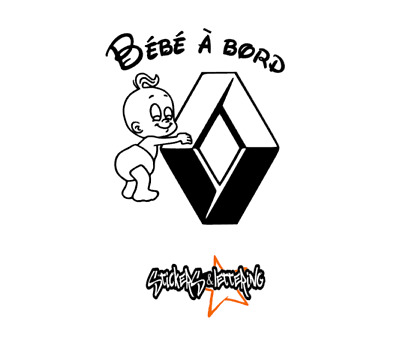 stickers bebe a bord renault baby a bord renault