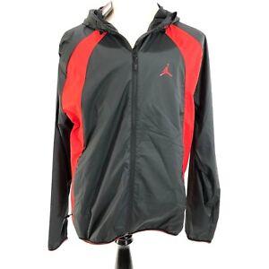 d1af109b8b15 Nike Air Jordan Large Mens Red Black Wings Windbreaker Hoodie Jacket ...