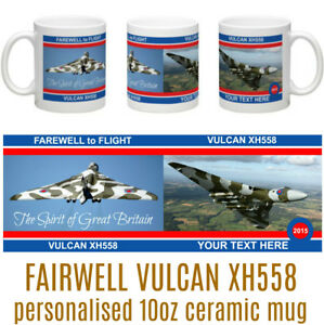 AVRO VULCAN BOMBER XH558 Spirit of Great Britain Farewell Personalised Coaster