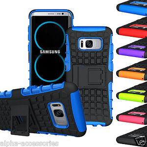 Pour-Galaxy-S8-amp-S8-Anti-choc-Etui-Double-Couche-Defenseur-Robuste-Etui-Stand