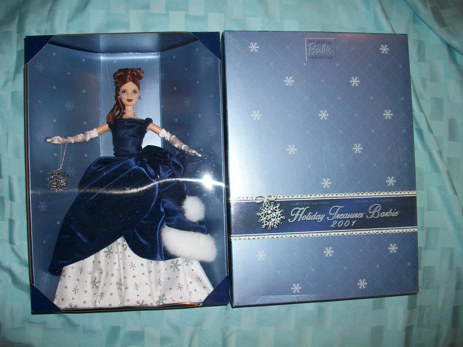 Lote De 3 Holiday Treasure Barbie Collector 99-2000-2001