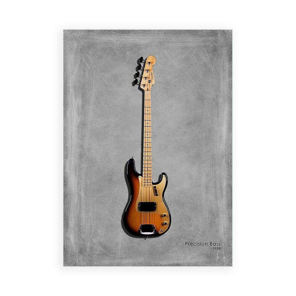 Stampa su Tela su CKunsta Poster o Quadro Rogan Mark Fender Precision Bass 58