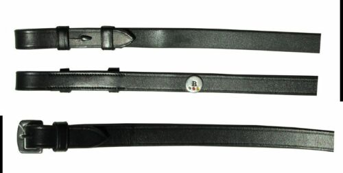 COB Details about  /GERMAN LEATHER WEYMOUTH BRIDLE WITH REINS BLACK