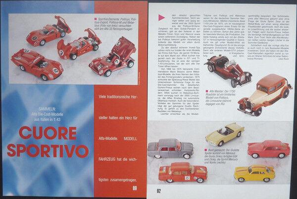 Alfa Romeo Romeo Romeo modelos de Politoys-Mebetoys...... entre otras cosas, un informe de modelo  1993  servicio considerado