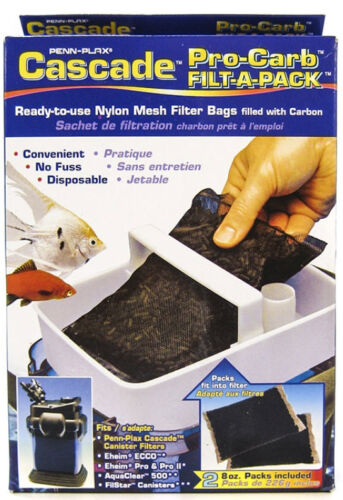 CASCADE PRO CARB CARBON FOR CASCADE 500//700//1000//1200//1500 CANISTER FILTERS 2PK