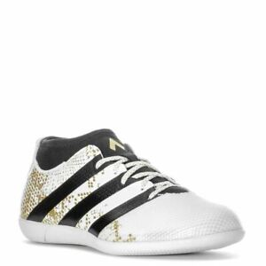 ADIDAS ACE 16.3 primemesh Indoor Football Chaussures Homme Blanc/Or Football Baskets