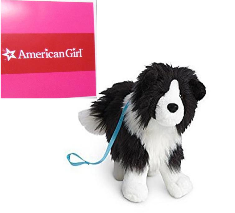 American Girl Bambola Saige Cane Rembrandt Bianco Nero Bordo Collie Peluche