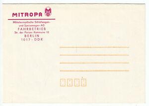 Firmenpostumschlag blanko, Mitropa, Fahrbetrieb Berlin, um 1988