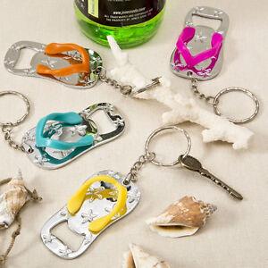 1fe9433b63947 Colorful Flip Flop Keychain Bottle Opener Beach Theme Wedding Favors ...