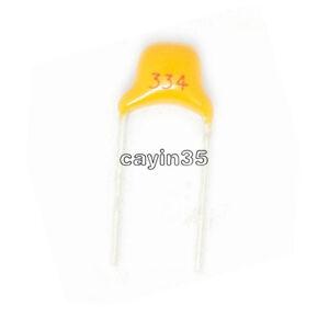 100pcs 0.33uF 330nF 334 50V Monolithic Ceramic Chip Capacitors