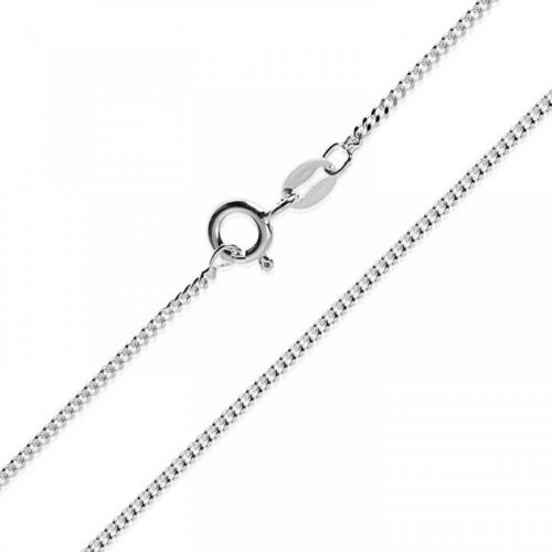 Silberkette Panzerkette Halskette Kette Collier Armband 925 Silber Sterling 1mm