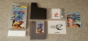 Super-C-Contra-Nintendo-NES-lot-Box-Manual-Inserts-Complete-CIB-Konami-TESTED