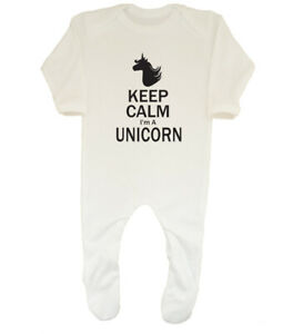 Franc Keep Calm I Am A Unicorn Girls Sleepsuit Ange-afficher Le Titre D'origine Avec Les éQuipements Et Les Techniques Les Plus Modernes