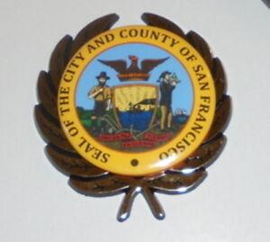 San Francisco Ca City Seal Municipal Car Badge Hood Dash
