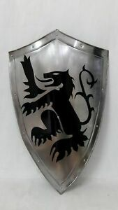 MEDIEVAL KNIGHT SHIELD ALL METAL HANDCRAFTED ARMOR SHIELD SCA GIFT SOLID  ITEM