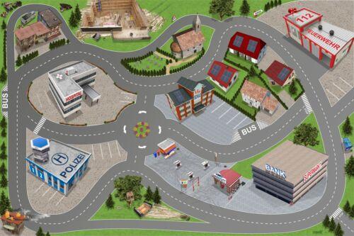 Stadt-City-Auto-Straße SM05 Spielmatte / Spielteppich - ca. 150 x 100 cm