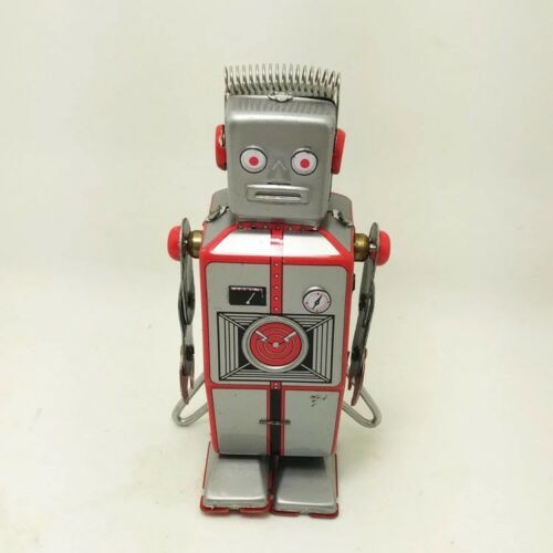 Antique Style Tin Toys Wind Up Robot iron Metal Models Children//Adult Decorate