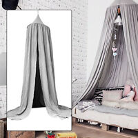 Bedding Canopy Mosquito Net Curtain Baby Kids Reading Play Cotton Tents Grey