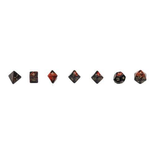 Würfelset-diversi lati-ROSSO-Oblivion 7 PEZZI