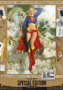 Supergirl-SEXY-Birds-Flying-High-Signed-A3-Comic-Art-Print-Superman-DC-Superhero