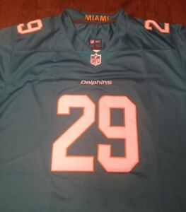 detailed look dbad0 a3db6 Details about MIAMI DOLPHINS #29 MINKA FITZPATRICK HOME JERSEY NEW WITH  TAGS SIZE LARGE