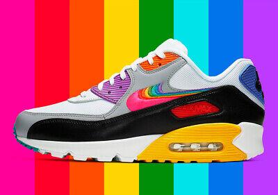 Nike Air Max 90 BE TRUE RAINBOW LGBT LGBTQ PRIDE MONTH BLACK BLM CJ5482-100 15   eBay