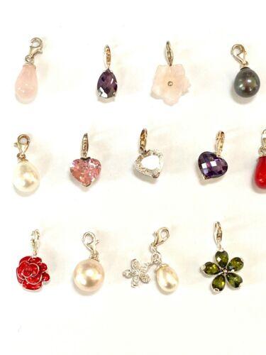NEUF THOMAS SABO sterling 925 Thomas Sabo Assorted Gemstone Charms