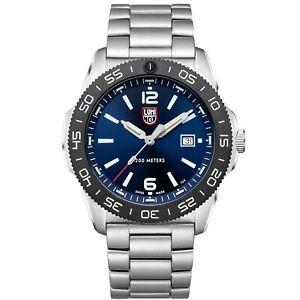 Luminox Pacific Diver Blue Dial Silver Steel Bracelet Quartz Men's Watch XS.3123