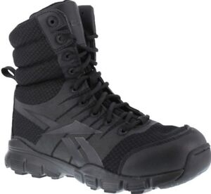 Reebok-RB8720-Men-039-s-Black-8-034-Dauntless-Ultra-Light-YKK-Side-Zip-Soft-Toe-Boots