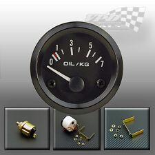 """Oil pressure gauge 0-7 kg/cm face 52mm / 2"""" with sender universal dash panel fit"""