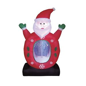 Christmas-Inflatable-Santa-Claus-Snowflake-Snow-Globe-LED-Lights-Decoration-New
