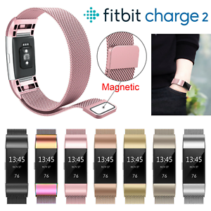 For-Fitbit-Charge-2-Strap-Replacement-Milanese-Band-Stainless-Steel-Magnet-New