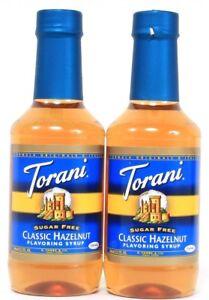 2-Torani-Classic-Hazelnut-Flavor-Syrup-Add-To-Coffee-Sugar-Free-Best-By-3-7-20