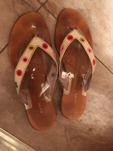 Very-Good-Condition-amp-Pretty-Marc-Jacobs-Leather-Flip-Flops