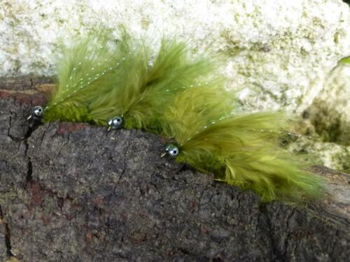 CAT`S WHISKER Streamer # 8 Bach-Meer-Regenbogen-Lachs-Forellen Saibling 3 St