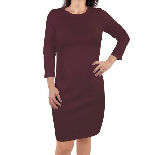 Touched by Nature Womens Organic Cotton Dress Burgundy