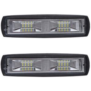 2x-LED-Arbeitsscheinwerfer-Light-Bar-48W-Offroad-Flutlicht-Strahler-12V-48V-SUV