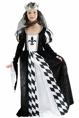 GIRLS CHESS QUEEN MEDIEVAL MAIDEN TUDOR FANCY DRESS BOOK WEEK SIZE 4-15 YEARS