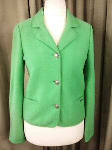 Eu38 Geiger Jacket Uk10 Made Austria Ladies Loden Green New In Pure Wool 747q8r