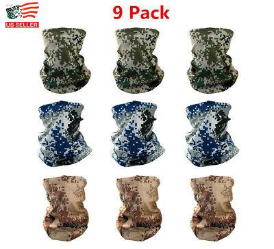 3 Pcs Set Seamless Face Tube Scarf Headband Sun Gaiter Scarf Headwear Bandana