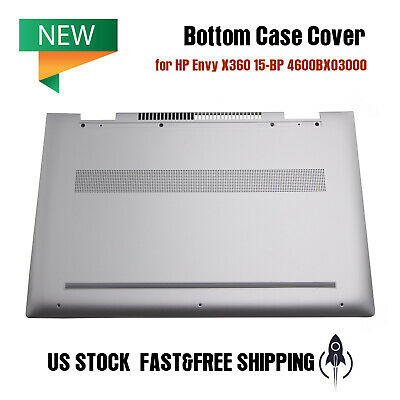 Compatible Replacement for HP Envy X360 Convertible 15-BP Lower Bottom Base Case Cover 4600BX03000
