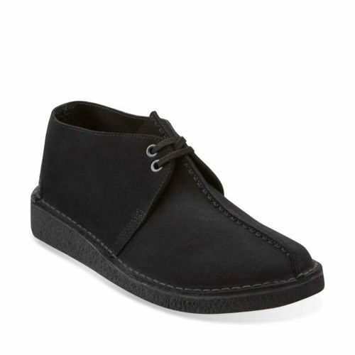 Clarks Originals Desert Trek Men/'s Center Stitch Black Suede 26113258