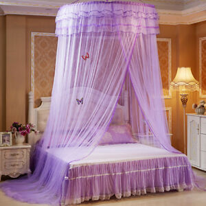 Round-Dome-Mesh-Lace-Mosquito-Net-Bed-Canopy-Bedding-Netting-Princess