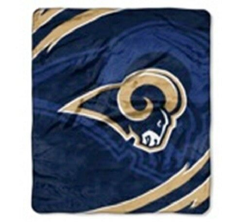 Licensed NFL Football Los Angeles Rams Royal Plush Queen Size Throw Blanket
