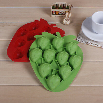 DIY Strawberry Cake Mold Soap Flexible Silicone Mould For Candy Chocolate