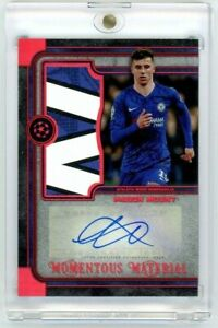 2019-20 Topps Museum Collection AJR-MM - Mason Mount RC Ruby Patch Auto #20/25
