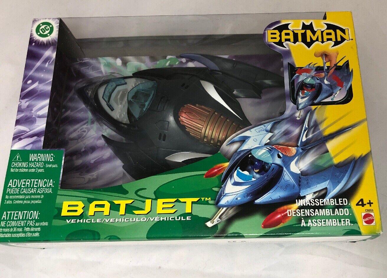 Mattel Dc Universe Batman BatJet Vehicle with with with Batman Figure New 2003 C0055 Wings 850ce6