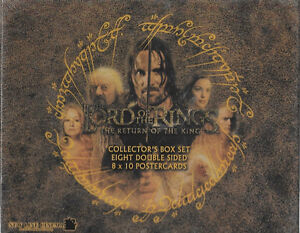 The Lord of the Rings 8 x 10 Postercards Set #3, Main Characters 2006 NEW SEALED